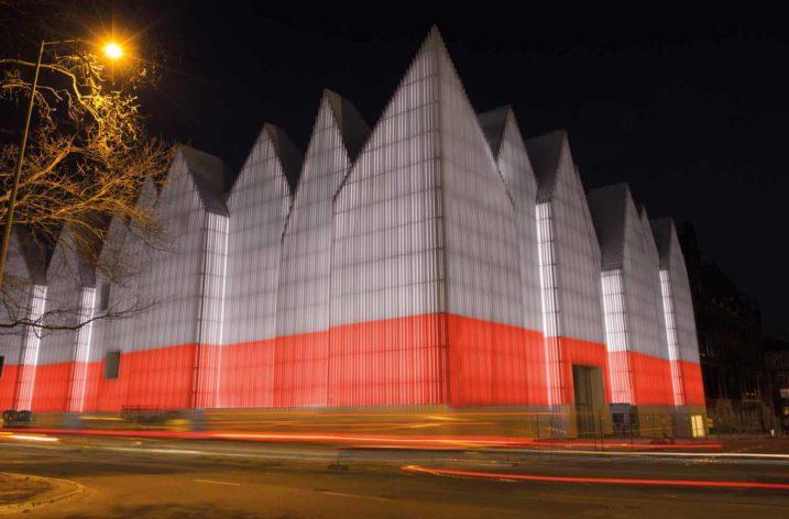 Symbol Szczecina z oświetleniem LED