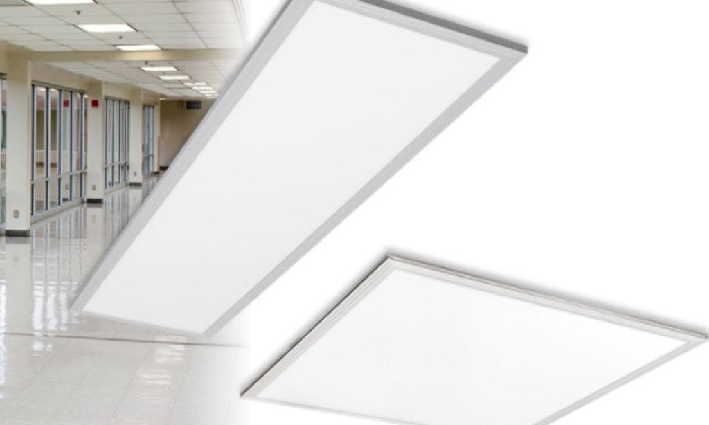 Prostokątny panel LED z akcesoriami