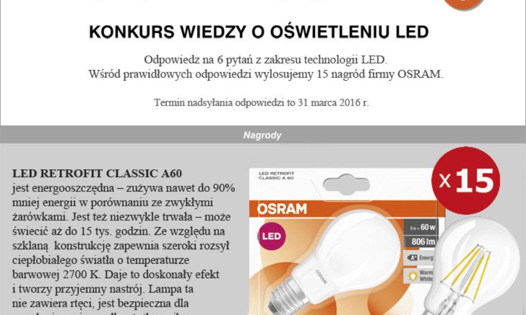 Co wiesz o oświetleniu LED? TEST