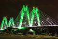 Zjawiskowa iluminacja nowego mostu