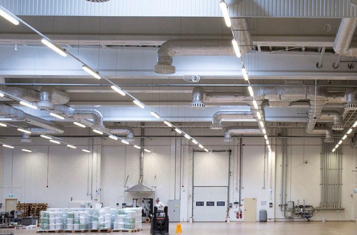 Oświetlenie LED w fabryce czekolady