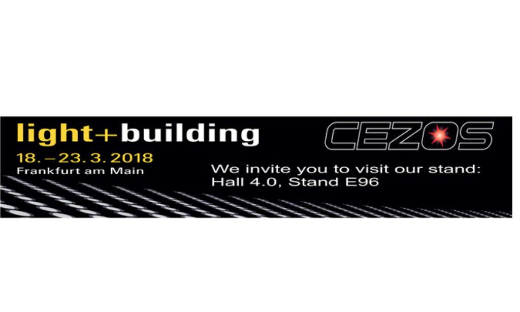 Nowości na stoisku CEZOS podczas targów Light+Building 2018
