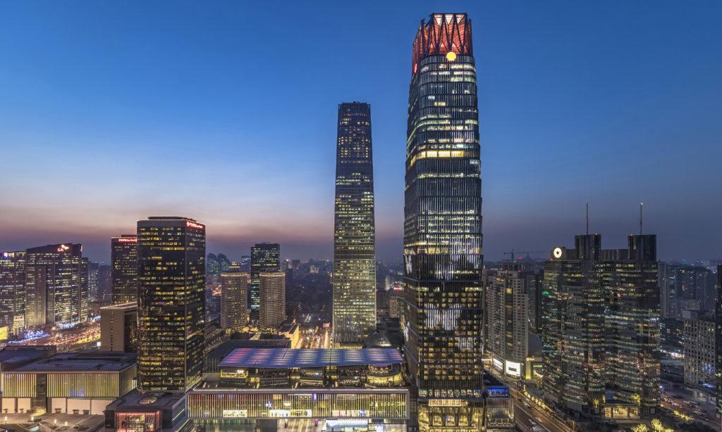 Iluminacja China WorldTrade Center
