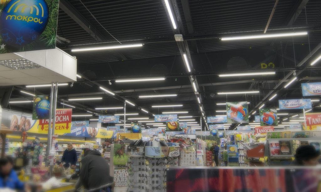 Nowoczesne oświetlenie sklepu MOKPOL