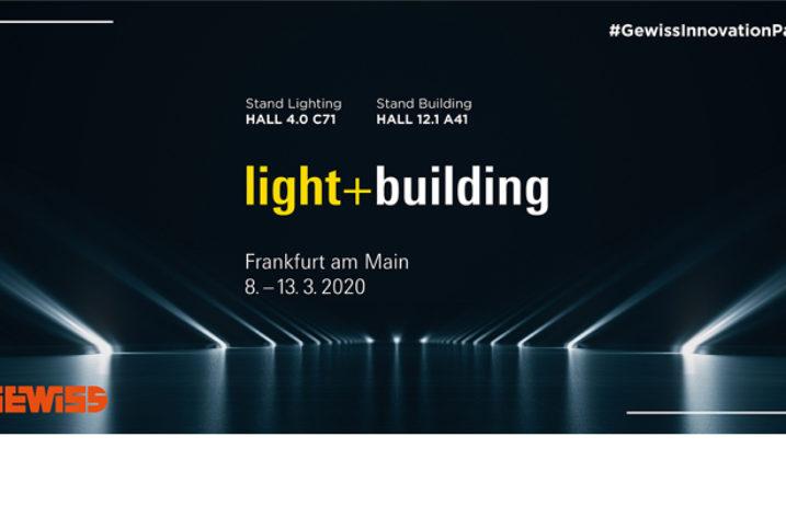 Ścieżka innowacji na stoisku GEWISS podczas Light + Building 2020