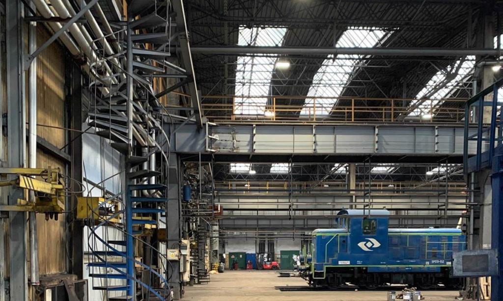 Modernizacja oświetlenia w hali remontowej PKP CARGO