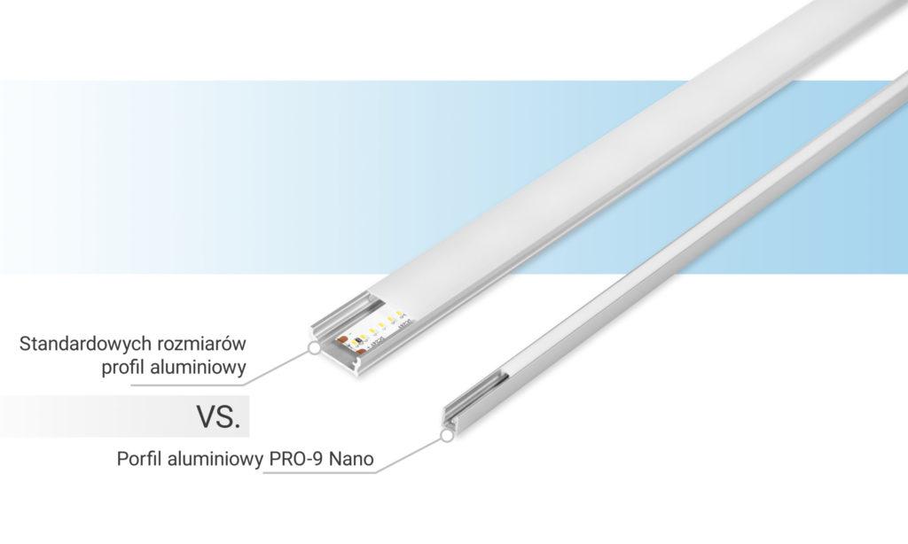 Bergmen wprowadza na rynek najwęższy profil aluminiowy Pro-9 Nano
