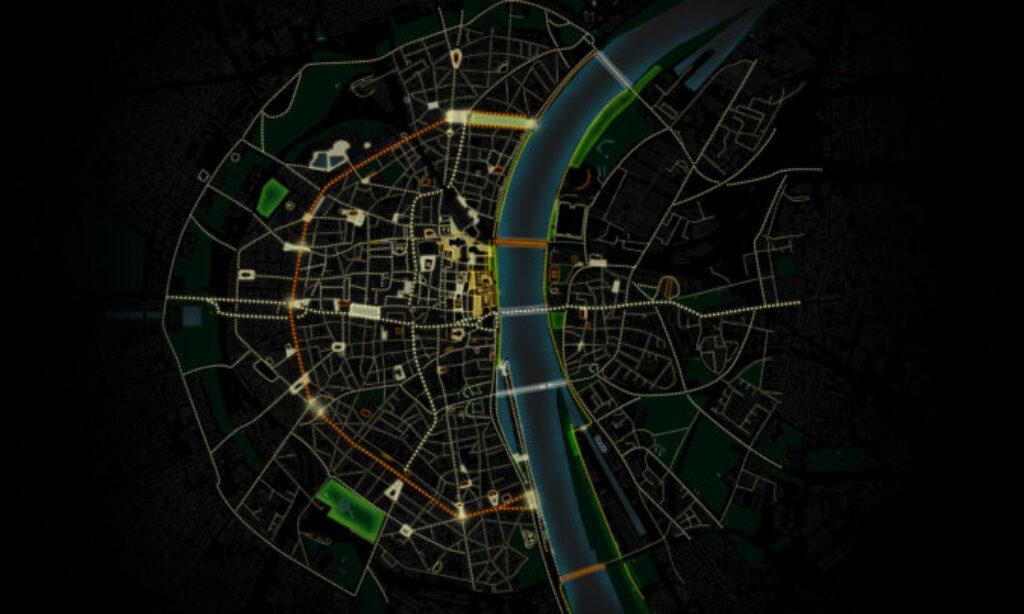 Masterplan oświetlenia miasta Kolonia w Niemczech