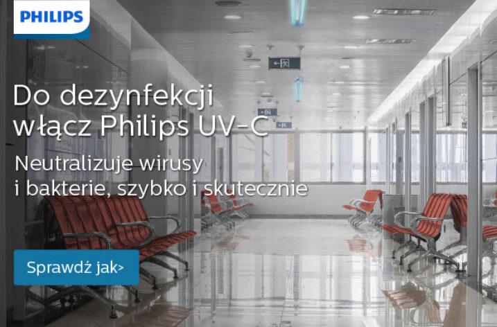 Skuteczna dezynfekcja Philips UV-C