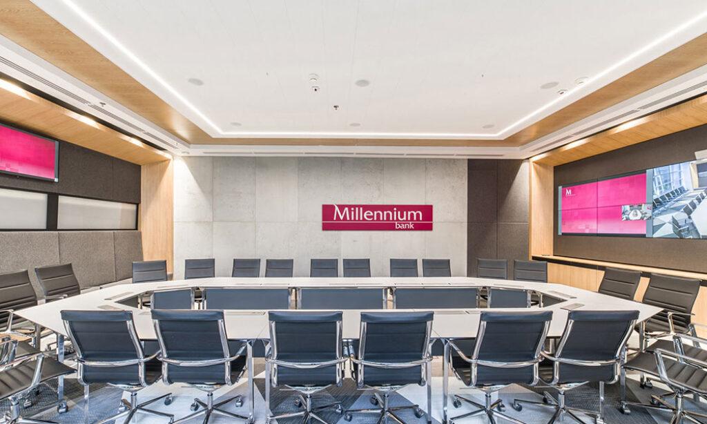 Modernizacja instalacji oświetleniowej w Banku Millenium