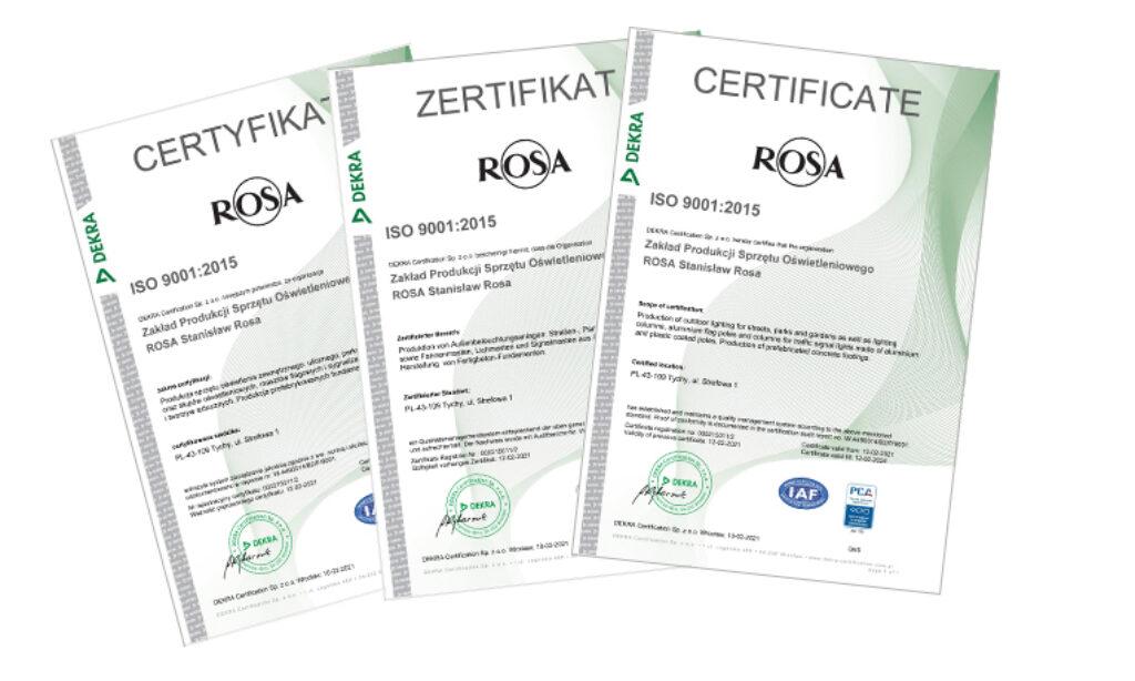 Audyt dotyczący zarządzania jakością w firmie ROSA